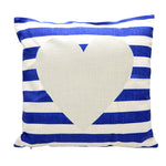 Linen pillow case-White and Blue striped-100pcs