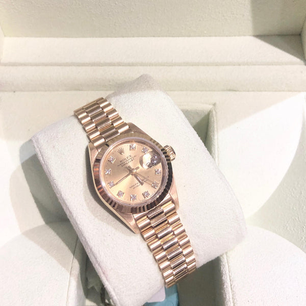 Ladies 18ct Yellow Gold Rolex Datejust