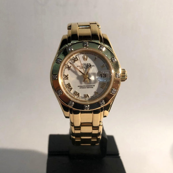 Ladies Rolex 18ct Yellow Gold Pearlmaster