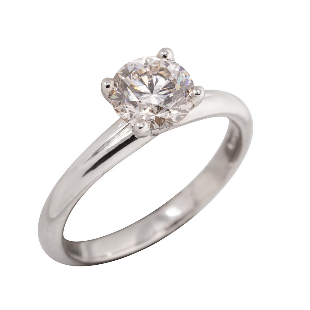 PLATINUM 1.00CT SOLITAIRE DIAMOND RING