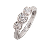 9CT TRILOGY 75PT DIAMOND RING
