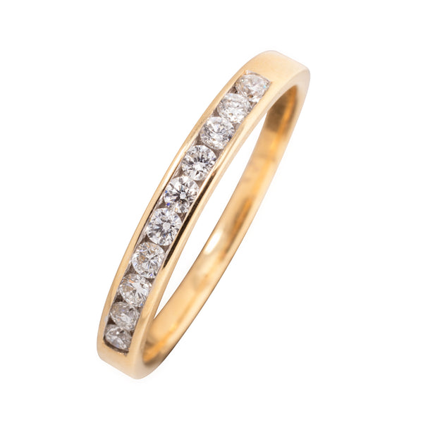 18CT CHANNEL SET DIAMOND ETERNITY BAND