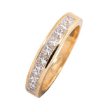 18CT PRINCESS CUT 1.00CT WEDDING RING