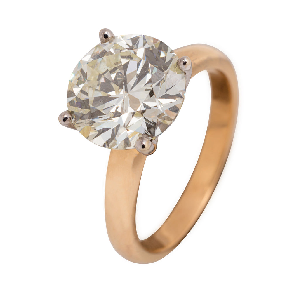 VINTAGE 18CT 3.50CTS SOLITAIRE RING