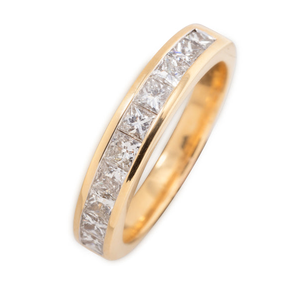 18CT PRINCESS CUT 75PT DIAMOND RING