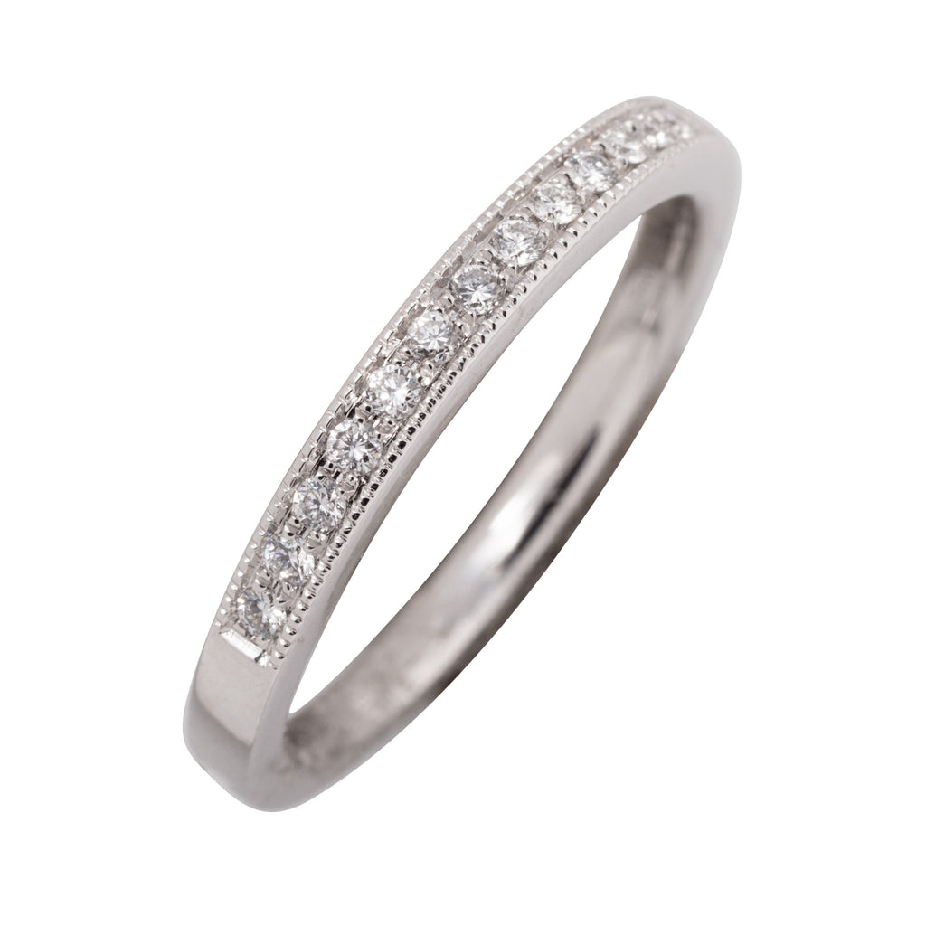 PLATINUM VINTAGE STYLE WEDDING BAND