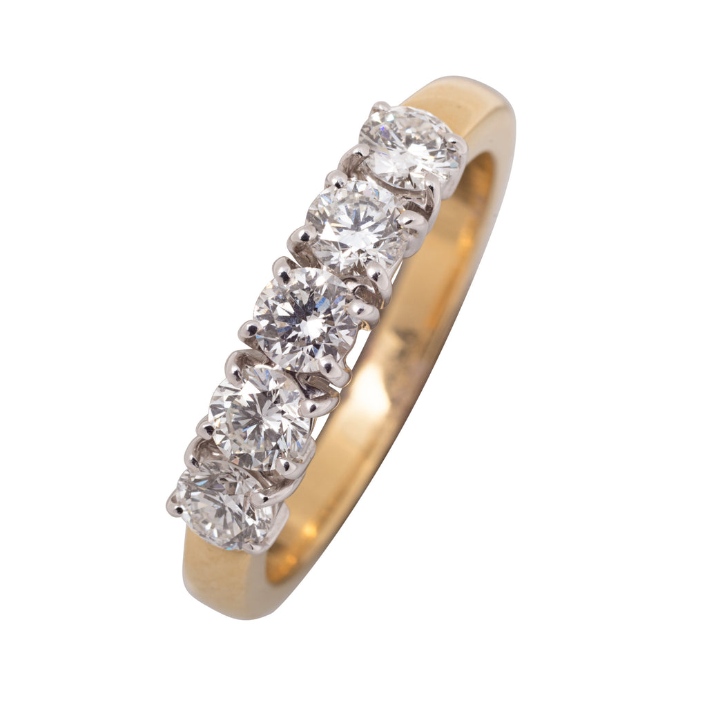 18CT 5 STONE ETERNITY RING