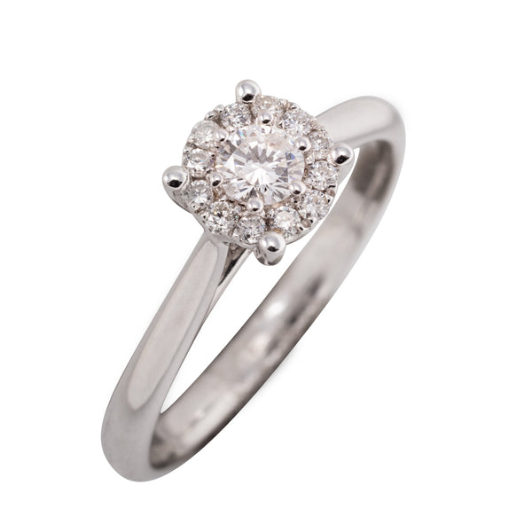 9CT CLUSTER DIAMOND RING