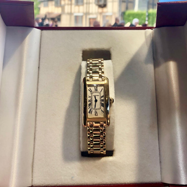 LADIES 18CT YELLOW GOLD CARTIER AMERICAN
