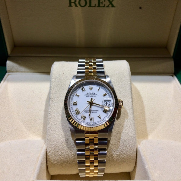Ladies Rolex Midi Bi-Metal Datejust