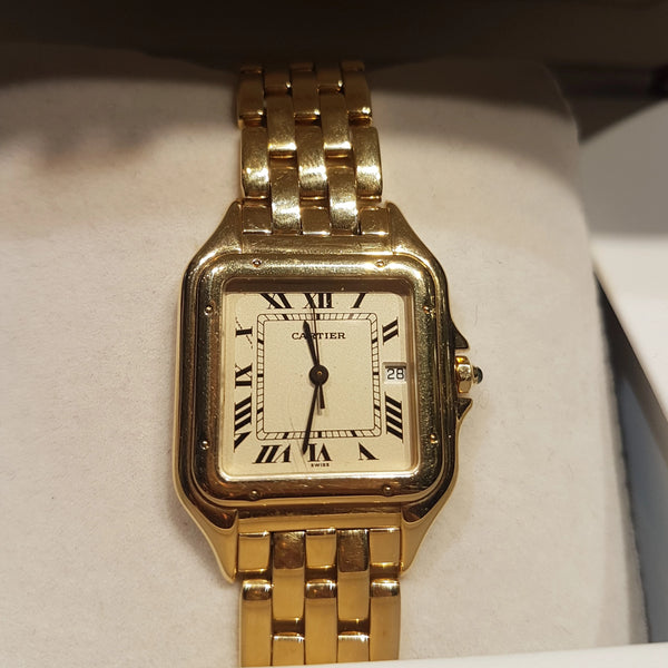 18ct gold Panthère de Cartier unisex medium model watch