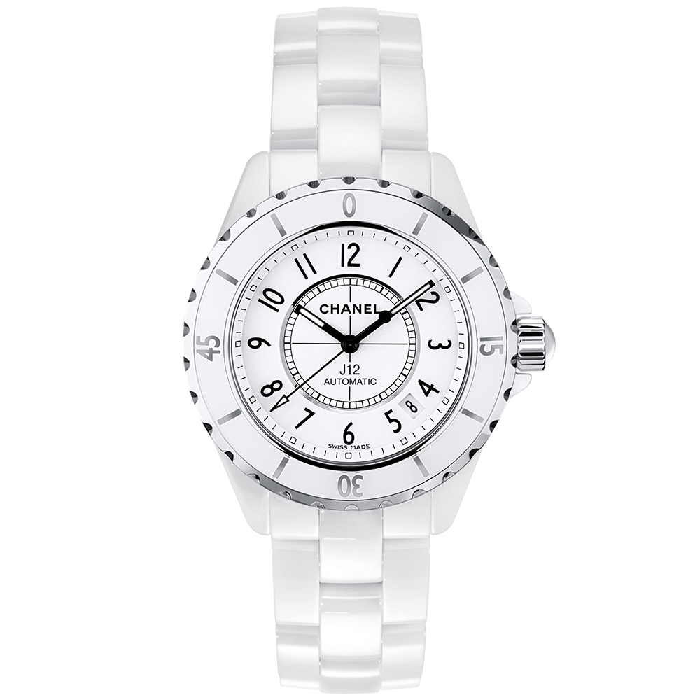 Ladies Automatic White Ceramic J12 Chanel - H0970