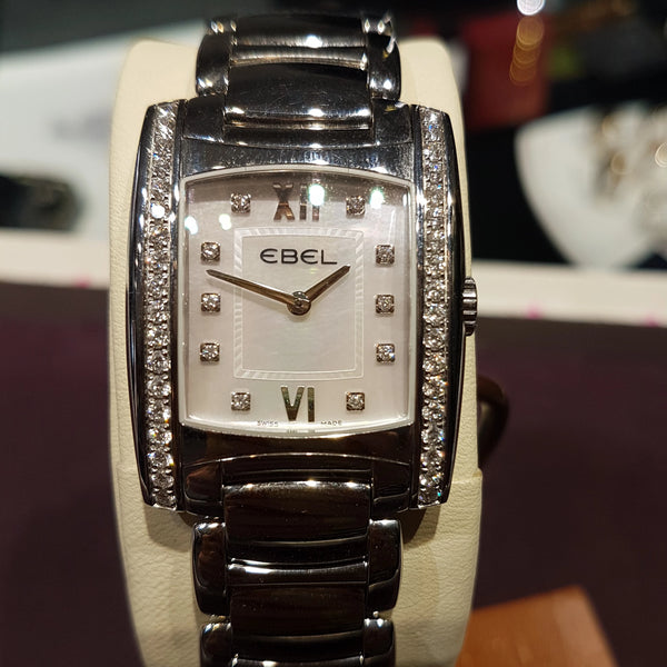 Ladies Ebel Brasilia diamond watch