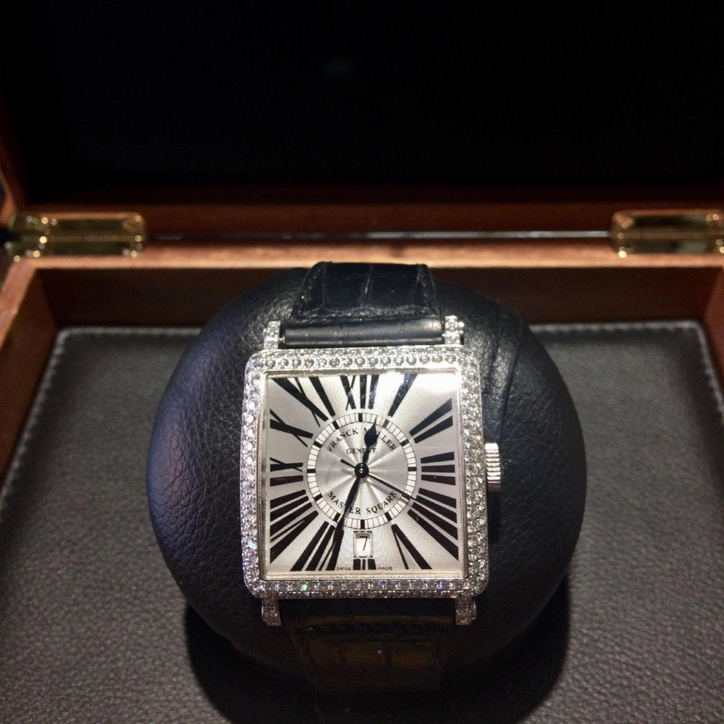 Franck Muller Diamond Bezel Master Square Watch