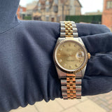 Rolex Oyster Perpetual DateJust Gold Dial Face 36mm 100m 16233