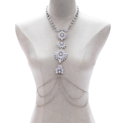 White Flower Body Chain