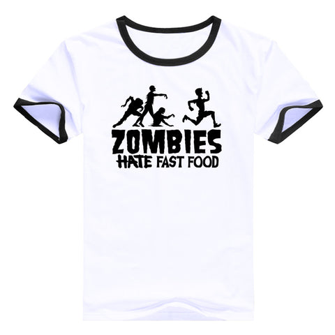 "The Walking Dead ""Zombies Hate Fast Food"" Womens T-Shirt"