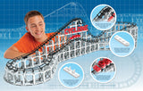 Lego®-Compatible Cyclone Roller Coaster Kit | Amusement Park