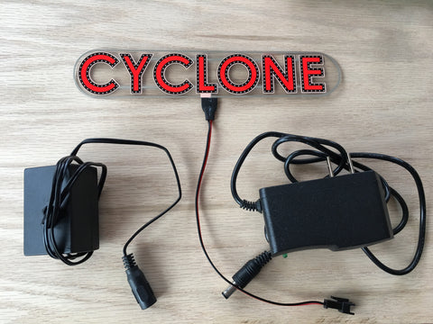 Cyclone Electroluminescent Sign