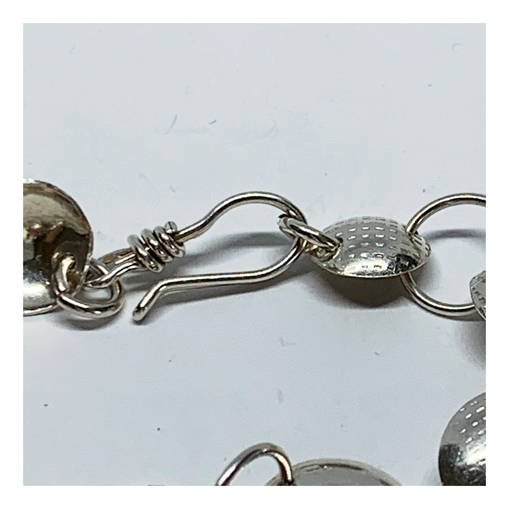 Delicate and Dainty Sterling Disc Bracelet