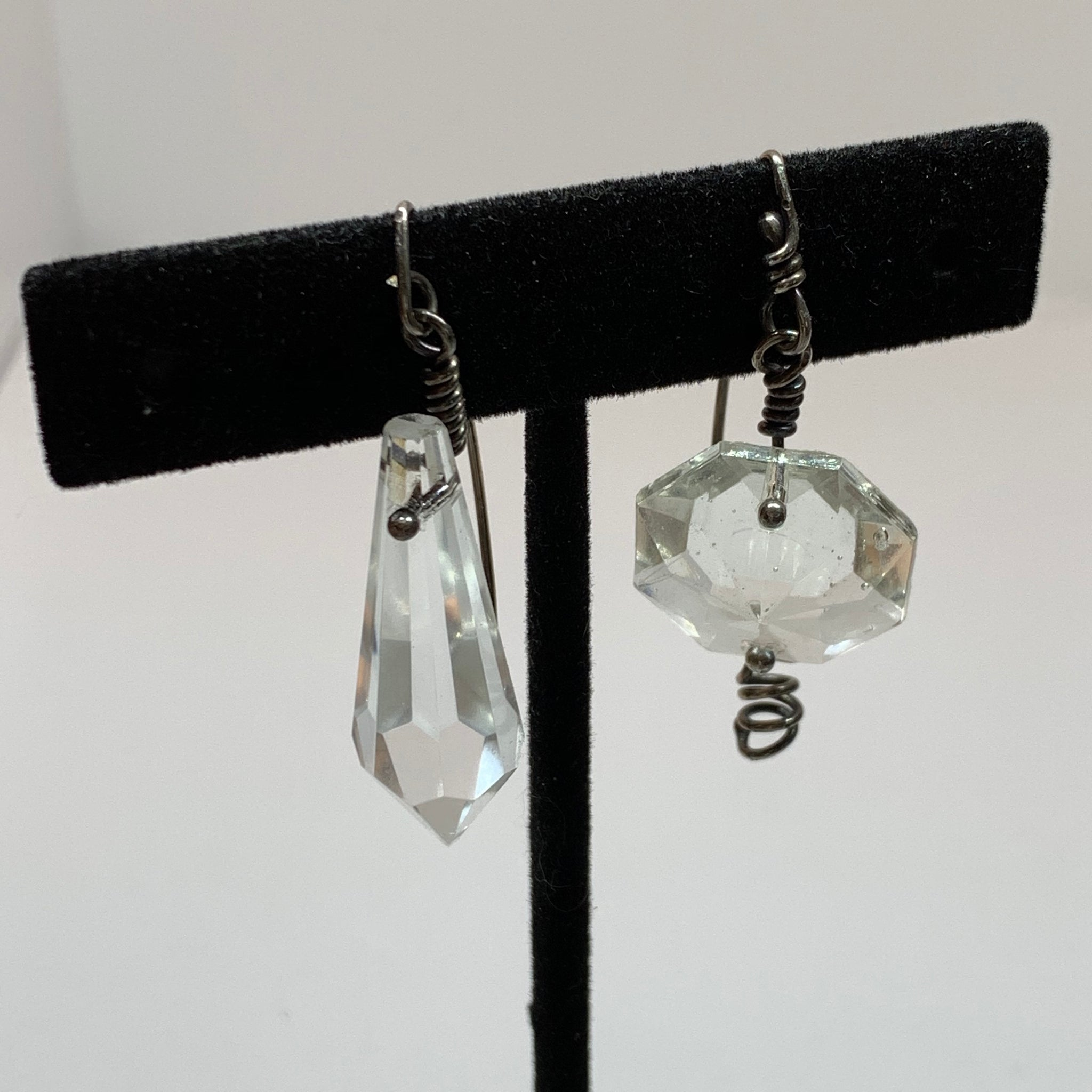 Vintage Glass Prism Earrings