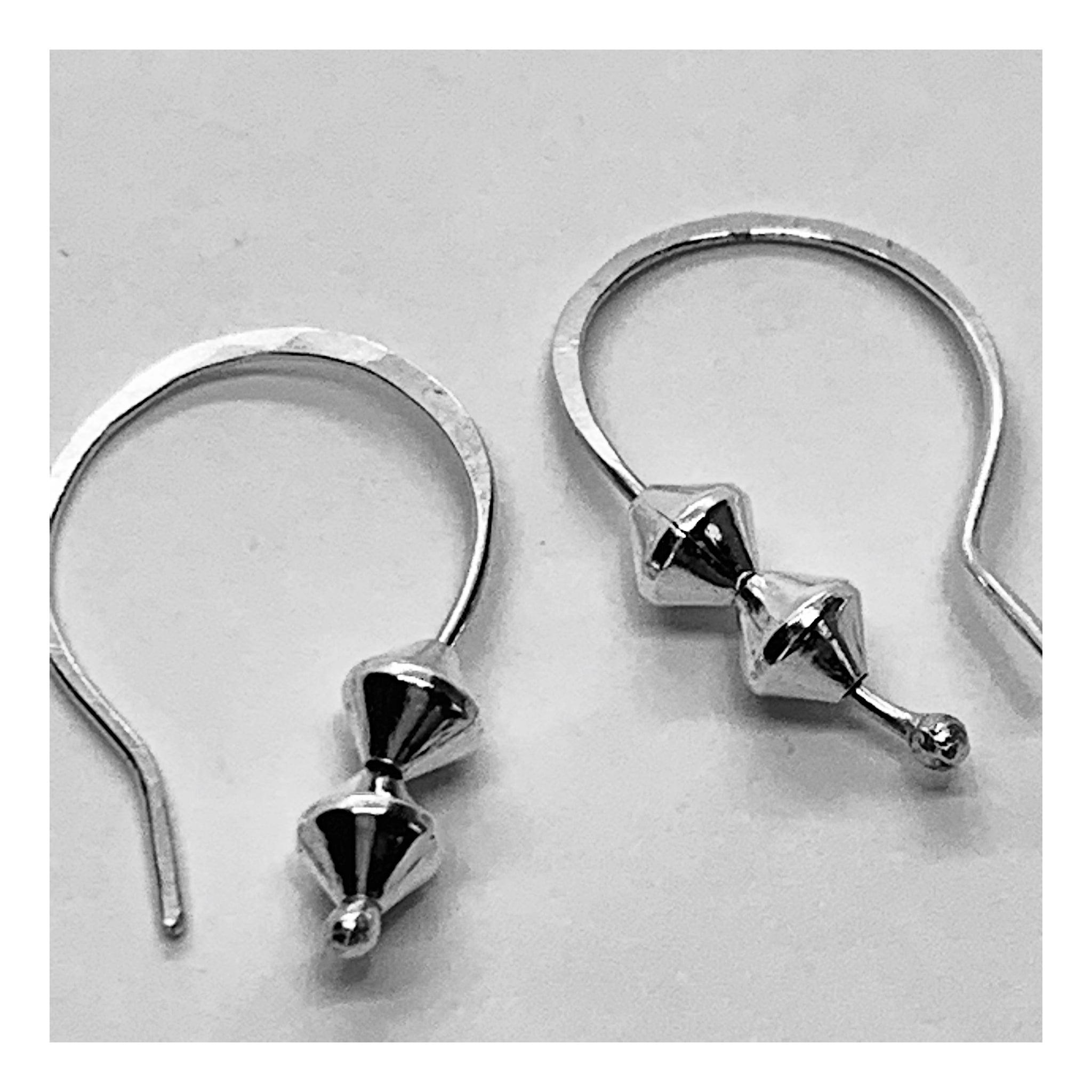 Small Minimalist Silver Hoop Earrings