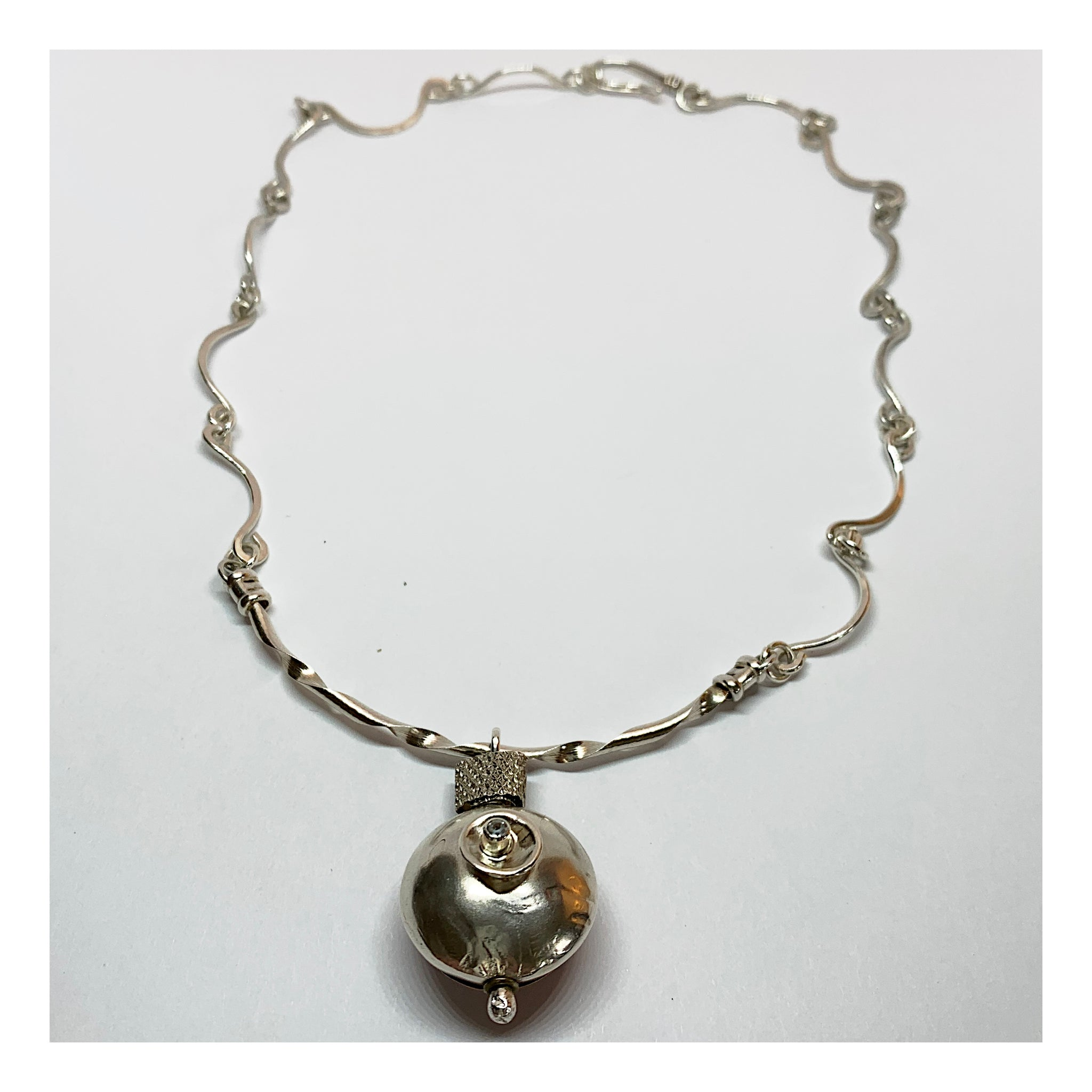 One of a Kind Sterling Silver Necklace - Unique and Unusual Handmade Jewelry