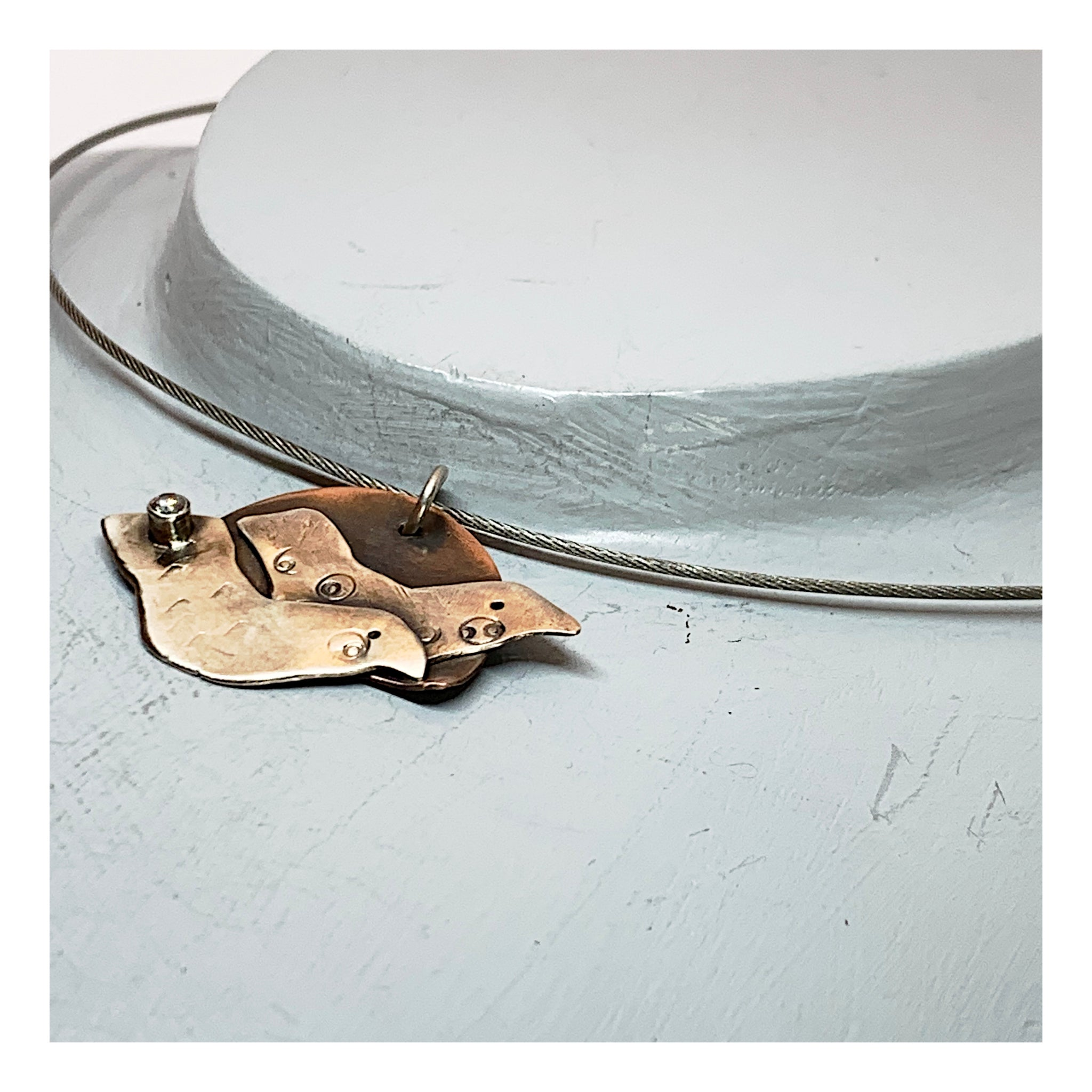 Boho Birds in Flight Choker - Mixed Metals Jewelry