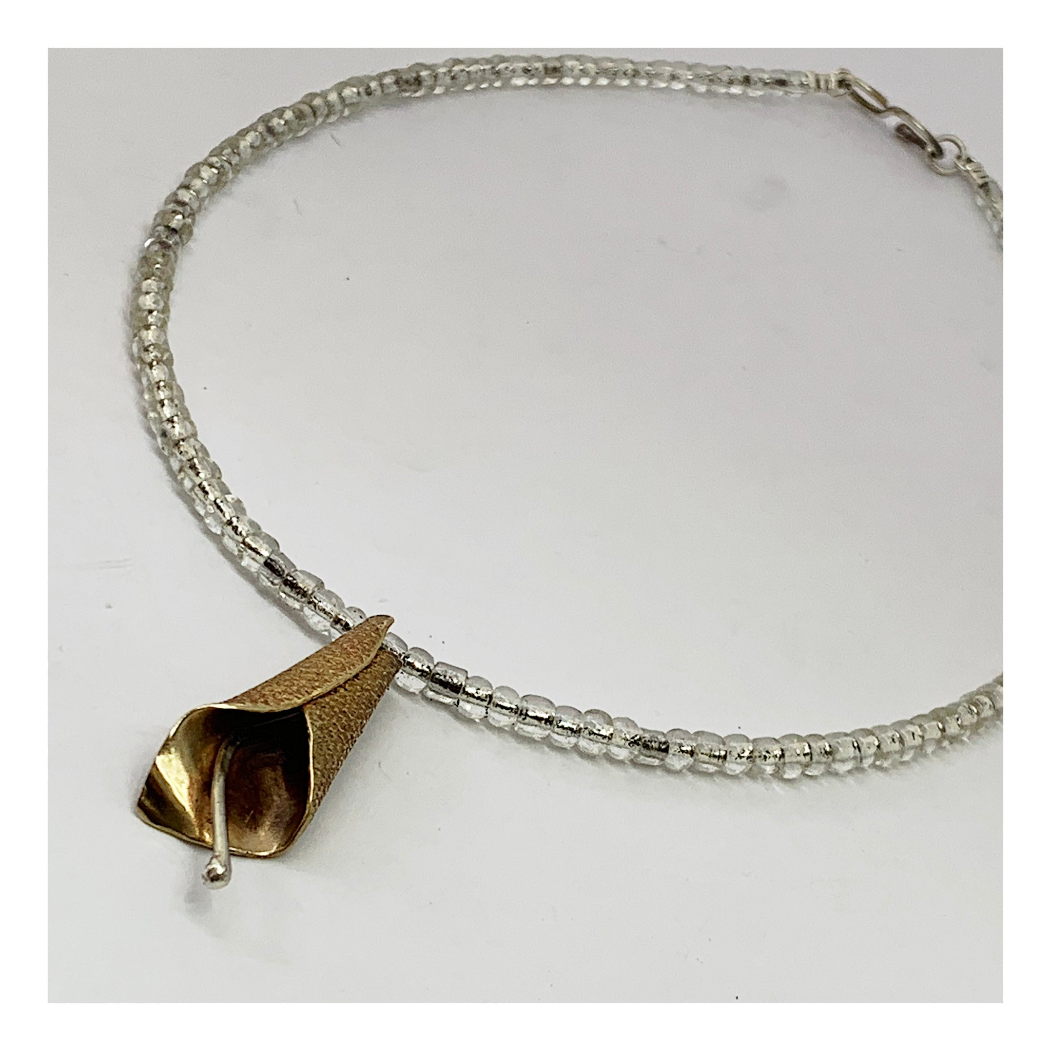 Calla Lily Necklace- Loose Floral Choker