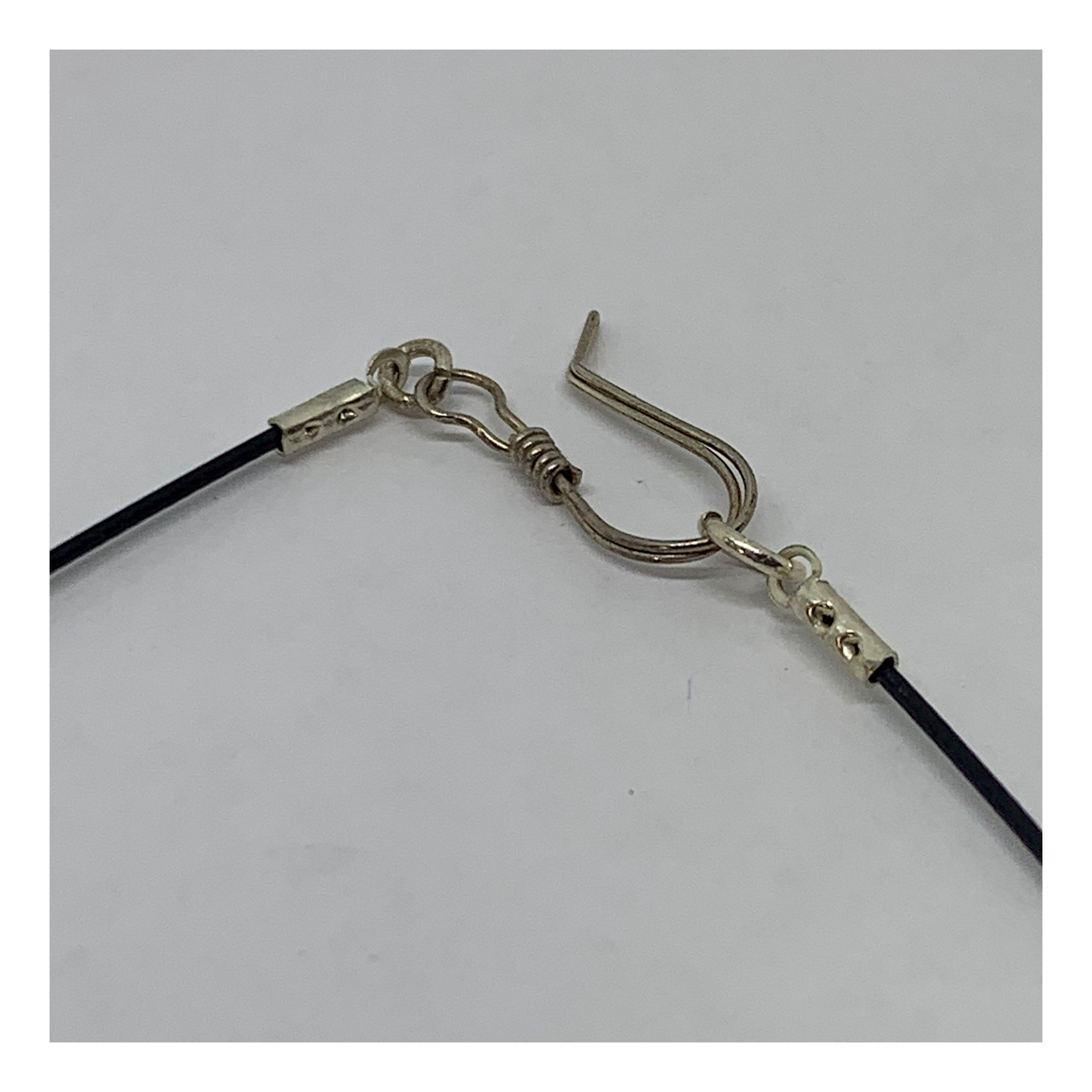 Small Square Charm On Neckwire Choker - Checks and Dot Collection - AMaryThought Wholesale