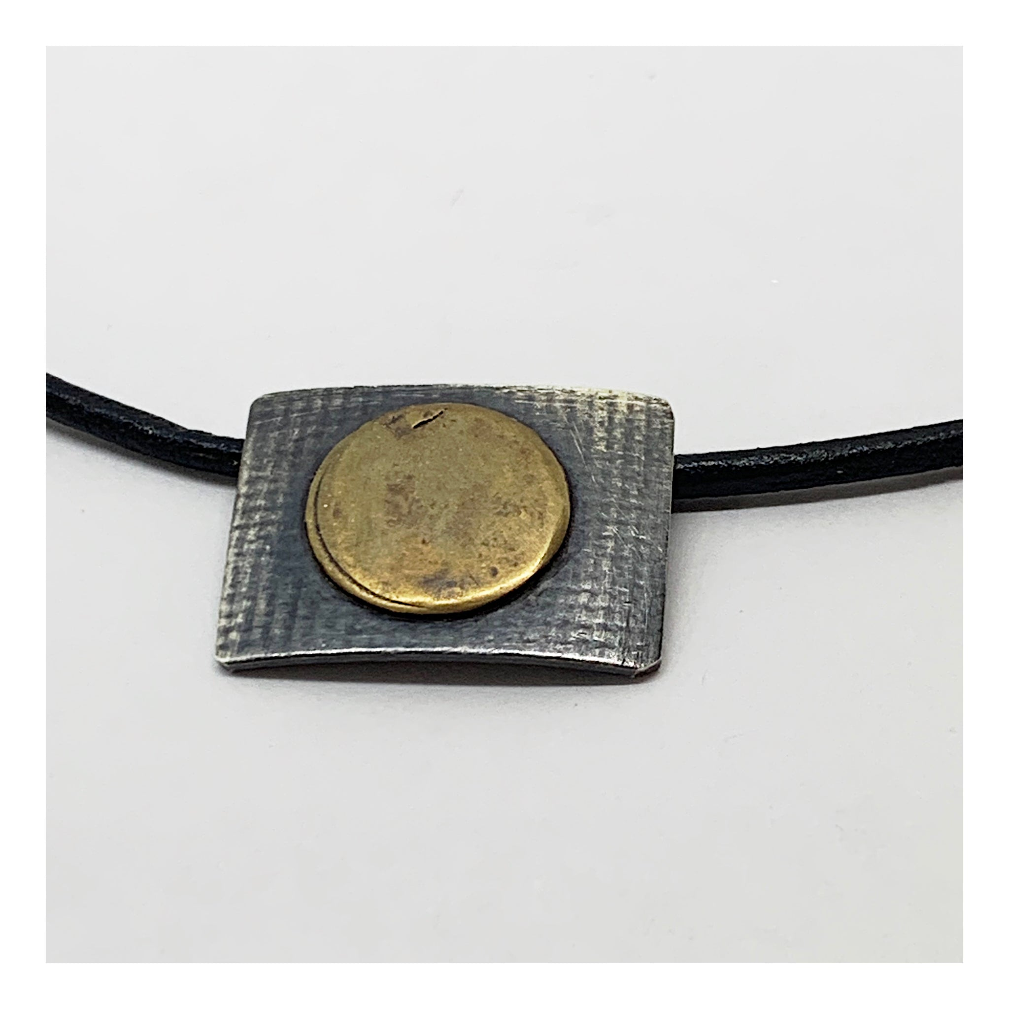 Adjustable Leather Necklace - Checks and Dot Collection - AMaryThought Wholesale