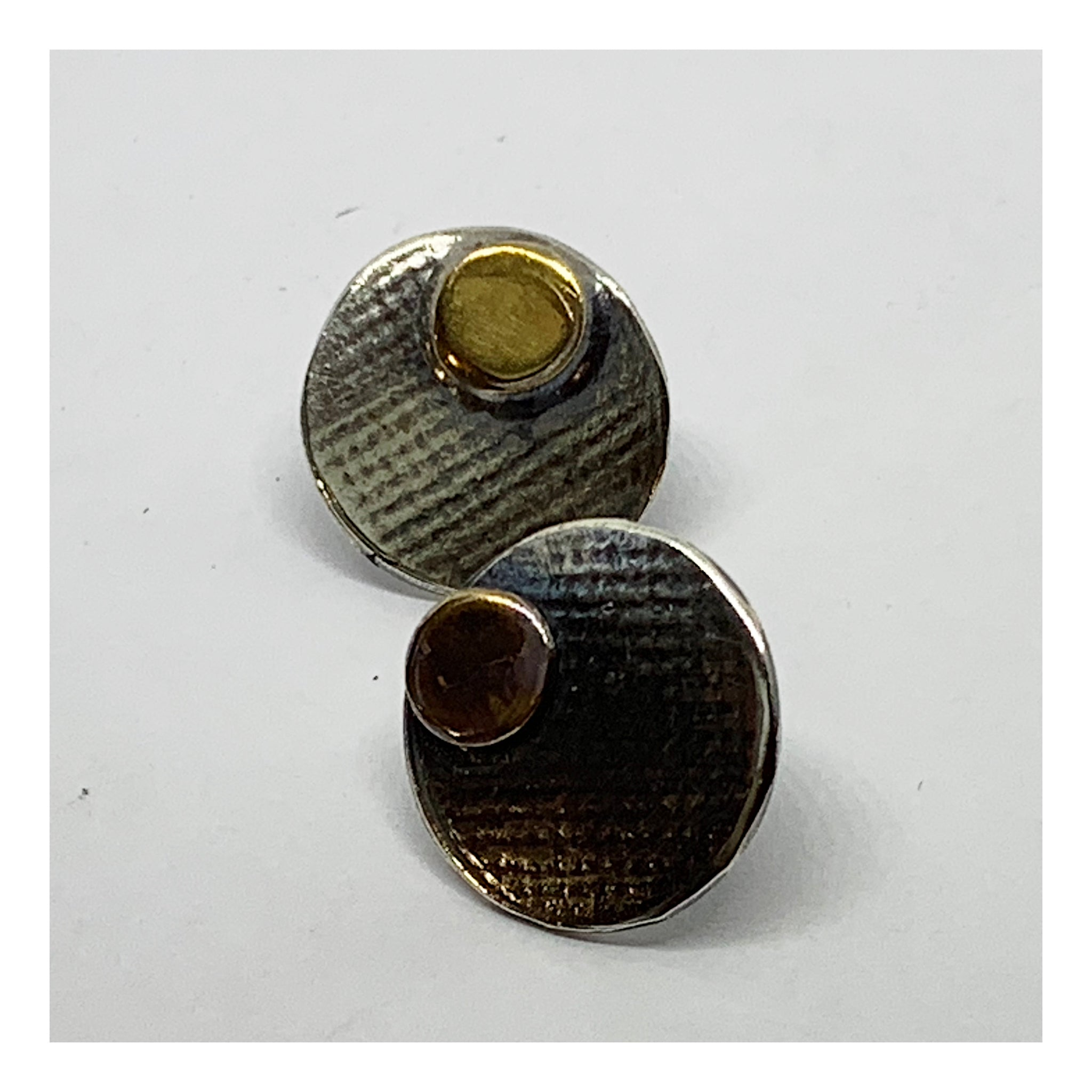 Half Inch Flat Disc Post Earrings - Checks and Dot Collection - AMaryThought Wholesale