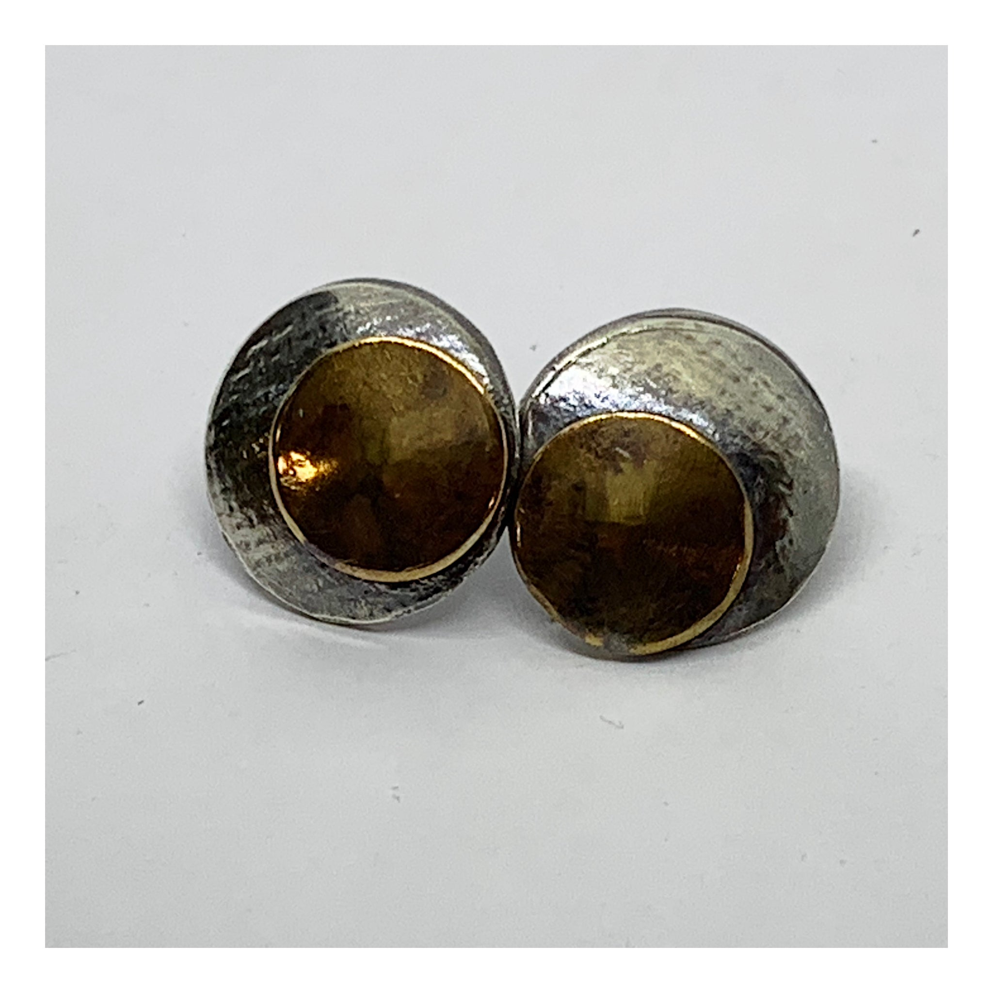 Half Inch Concaved Disc Post Earrings - Checks and Dot Collection - AMaryThought Wholesale