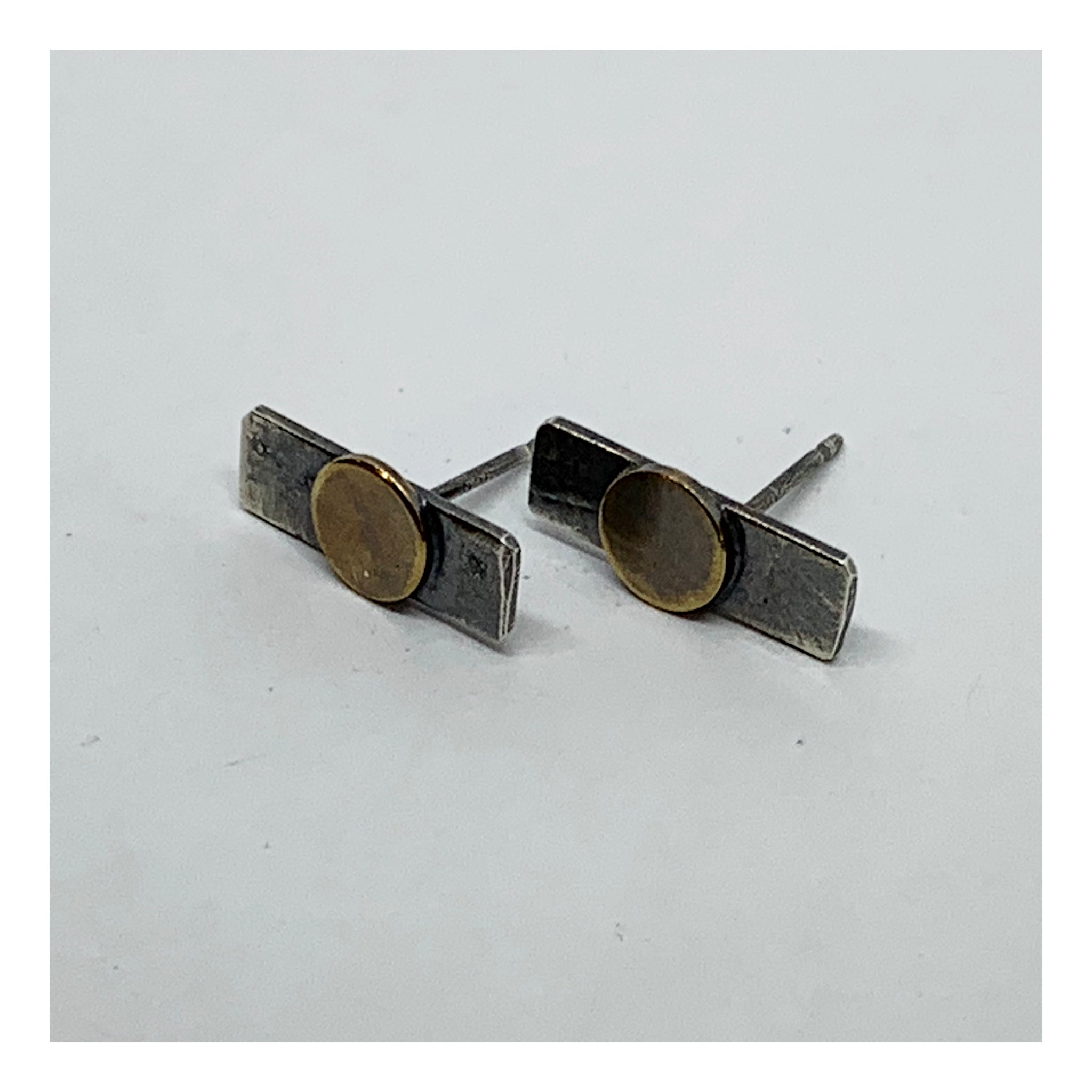 Small Rectangular Post Earrings - Checks and Dot Collection - AMaryThought Wholesale