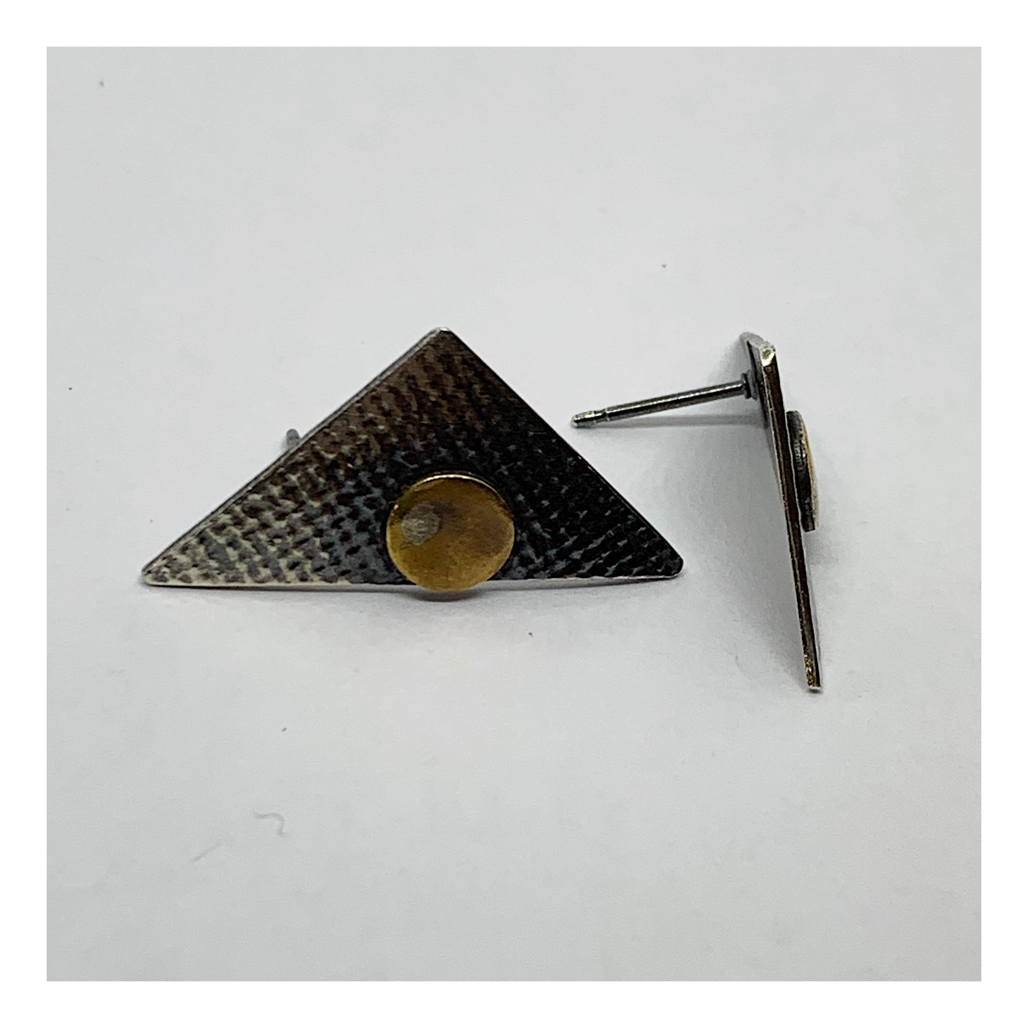 Triangular Post Earrings - Checks and Dot Collection - AMaryThought Wholesale