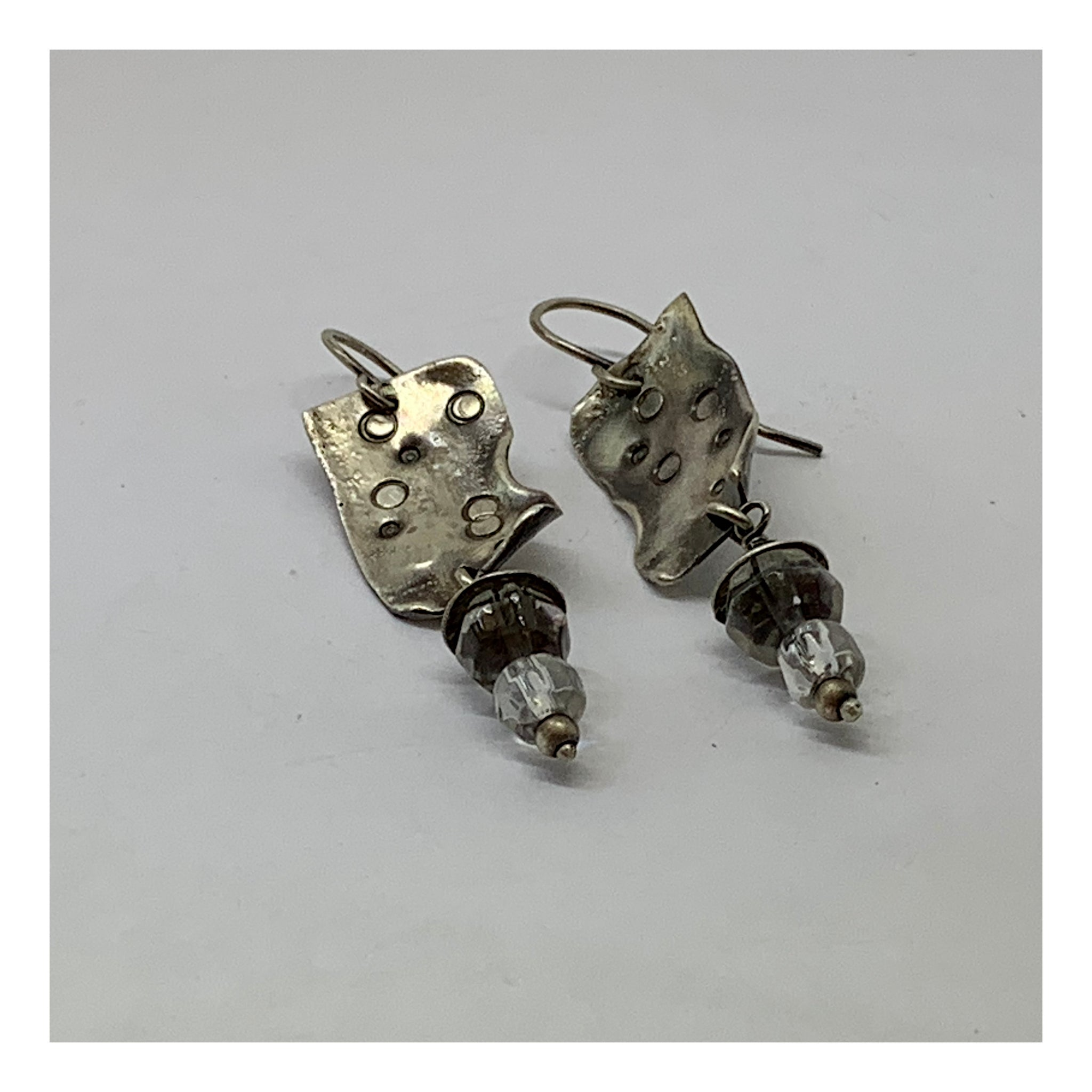 Drop and Dangle Earrings - Distressed Sterling 925 Silver Collection - AMaryThought Wholesale