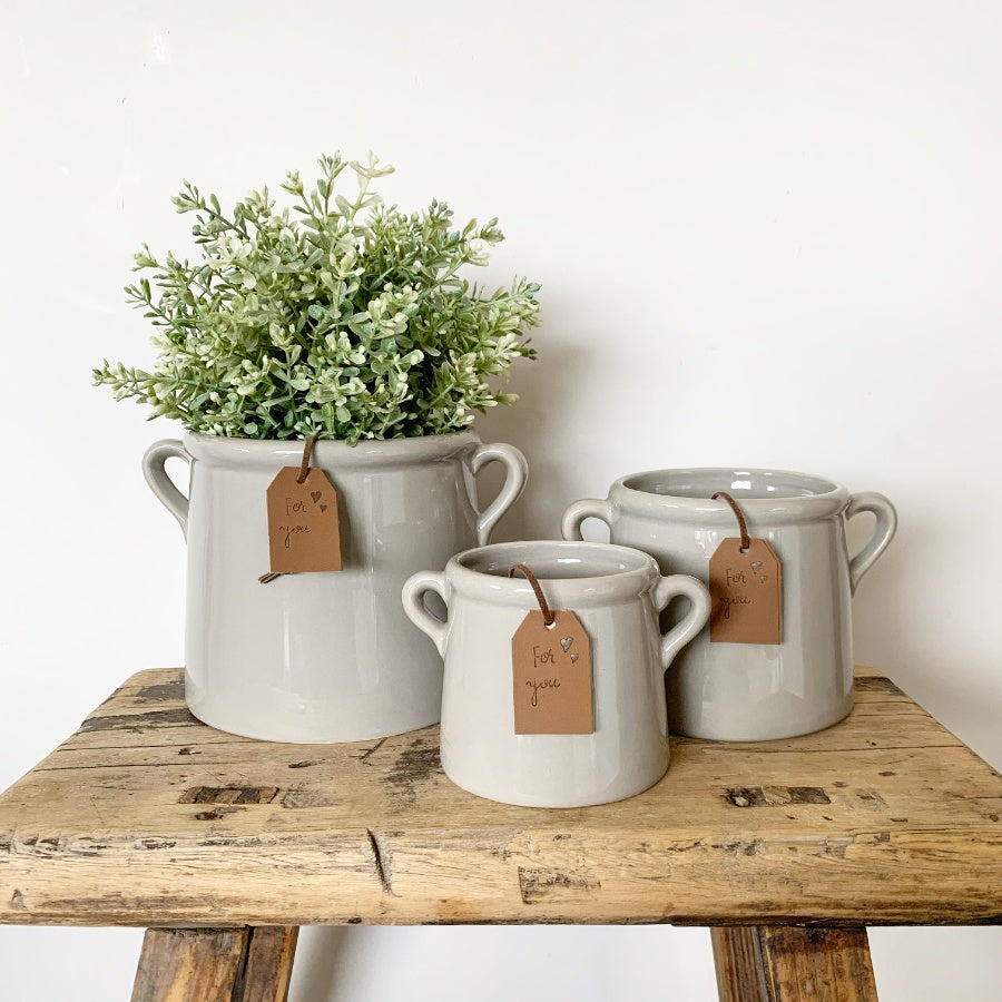GREY POT SMALL