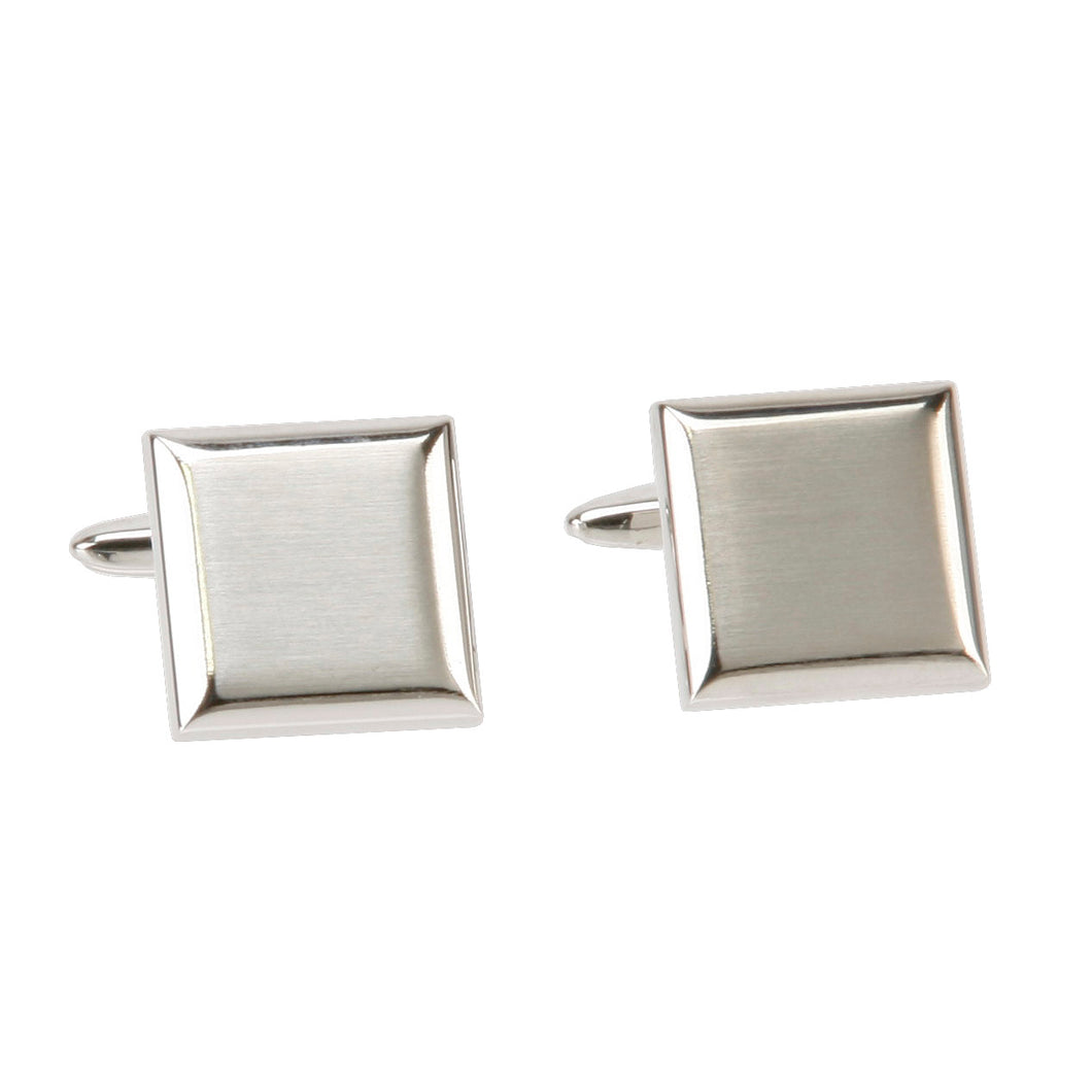 PAIR OF PLAIN SQUARE CUFFLINKS GIFT BOXED
