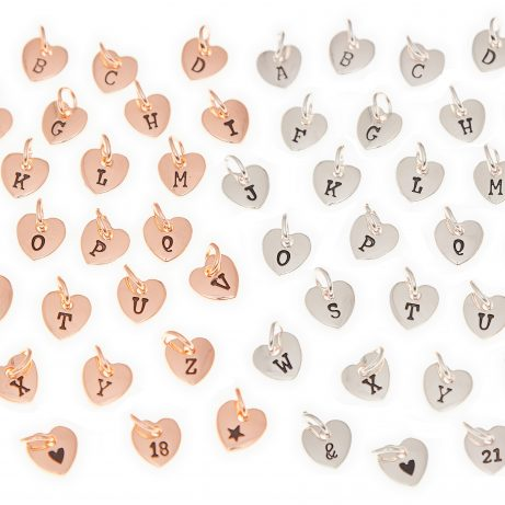 HEART INITIAL CHARMS