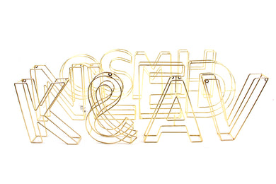 GOLD WIRE INITIAL LETTERS