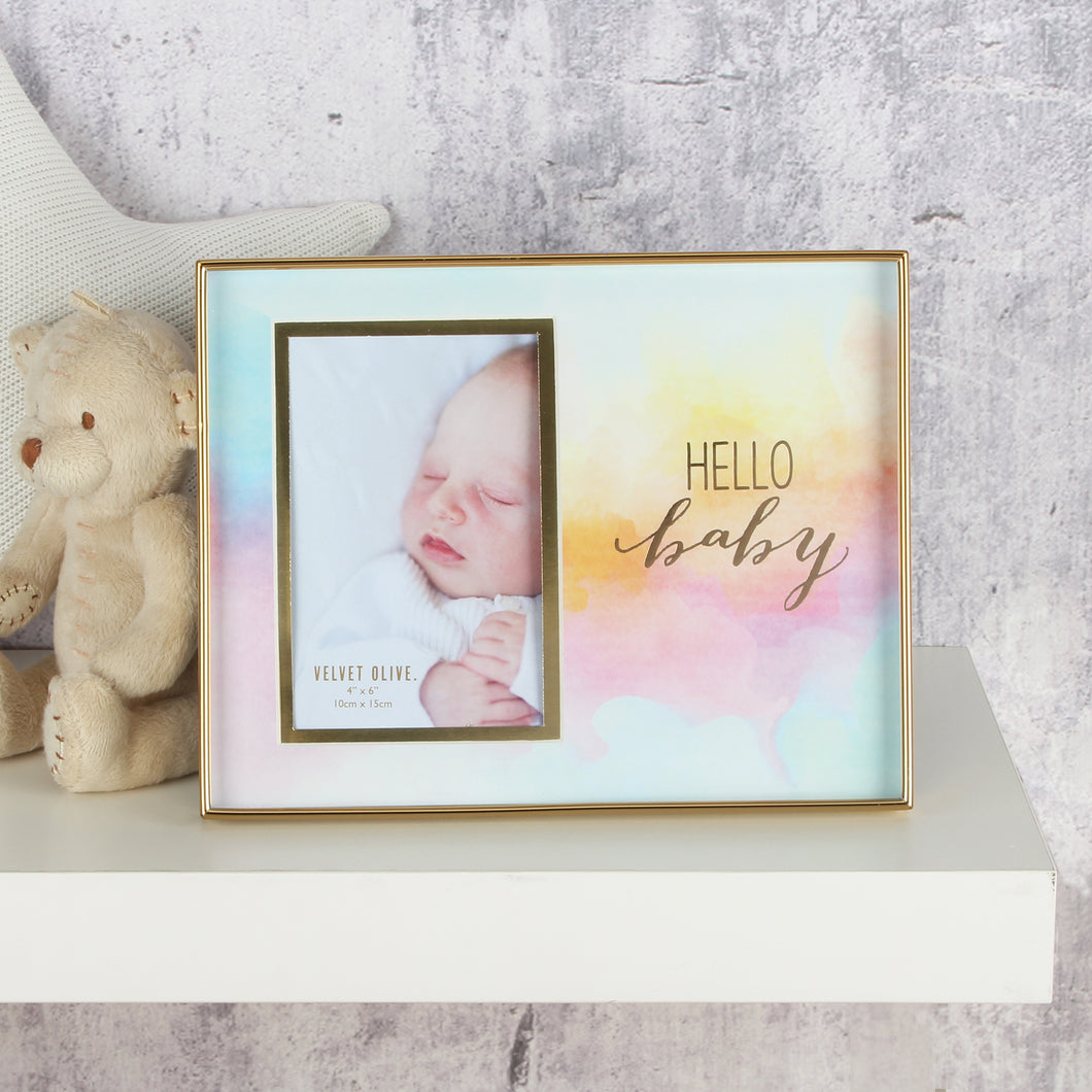 HELLO BABY WATERCOLOUR FRAME 4