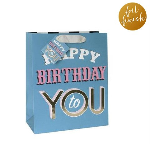 LARGE HAPPY BIRTHDAY TO YOU GIFT BAG