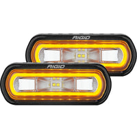 Rigid Industries SR-L Series Surface Mount LED Spreader Pair w/ Amber Halo - Universal