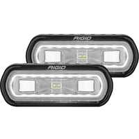 Rigid Industries SR-L Series Surface Mount LED Spreader Pair w/ White Halo - Universal