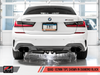 AWE Tuning 2019+ BMW M340i (G20) Track Edition Exhaust - Quad Diamond Black Tips