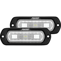 Rigid Industries SR-L Series Flush Mount LED Spreader Pair w/ White Halo - Universal
