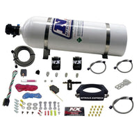 Nitrous Express LT2 C8 Nitrous Plate Kit (50-300HP) w/15lb Bottle