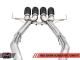 AWE Track Axle-Back Exhaust w Black Tips 14-19 Chevrolet Corvette