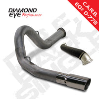 Diamond Eye 4inch DPF-Back Exhaust System with Turbo Direct Pipe Stainless Steel 2007.5-2010 Chevrolet GMC 2500 3500 6.6L Duramax
