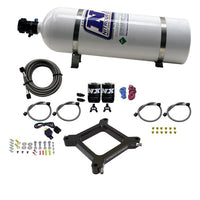 Nitrous Express 4150 Assassin Plate Stage 6 Nitrous Kit (50-300HP) w/12lb Bottle